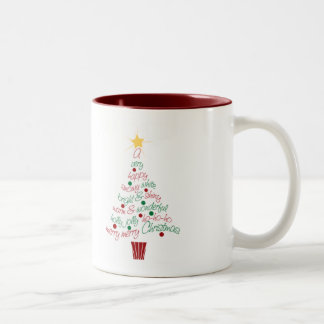 Merry Christmas Tree Mug