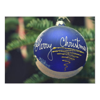 Merry Christmas tree ornament Personalized Announcements