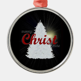 merry CHRISTmas tree ornament red writing