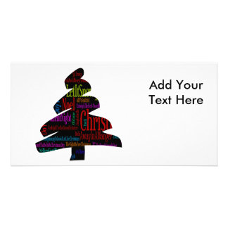 Merry Christmas Tree Personalized Photo Card