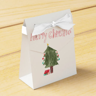 Merry Christmas Tree & Presents Favour Box