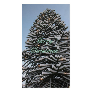 Merry Christmas Tree Silver Gift Tags Cards Pack Of Standard Business Cards