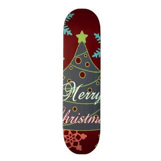 Merry Christmas Tree Snowflakes Holiday Gifts Custom Skateboard