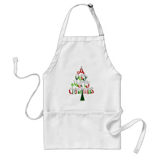 Merry Christmas Tree Standard Apron