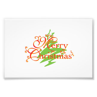 Merry Christmas Tree Star Greeting Playing Cards Photo