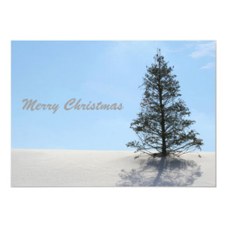 Merry Christmas Tree with Snow Personalized Invite