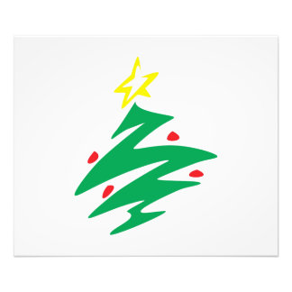 Merry Christmas Tree with Star Invitation Art Photo