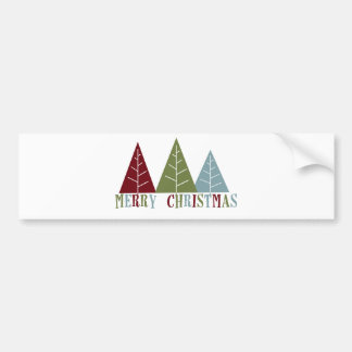 Merry Christmas Trees Bumper Sticker