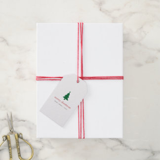 Merry Christmas Trees Gift Tags