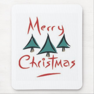 Merry Christmas Trees Mouse Pad