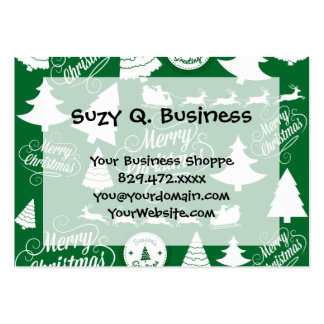 Merry Christmas Trees Santa Reindeer Holiday Pack Of Chubby Business Cards