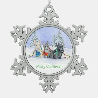 Merry Christmas Trio ornament