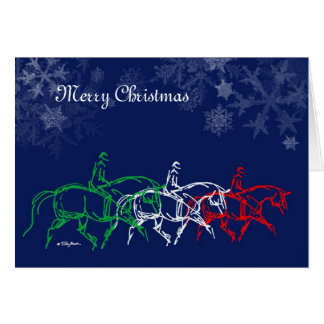 Merry Christmas Trotting x3 Card