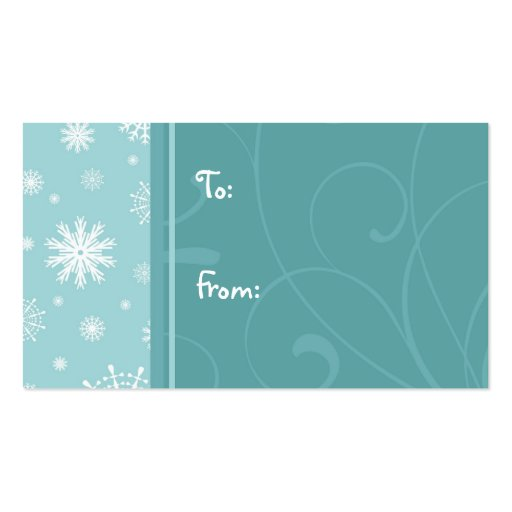 Merry Christmas Turquoise Snowflakes Gift Tags Pack Of Standard ...