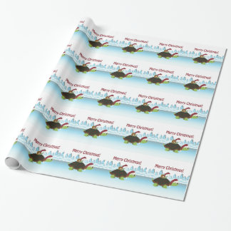 Merry Christmas! Turtle and Snail Wrapping Paper