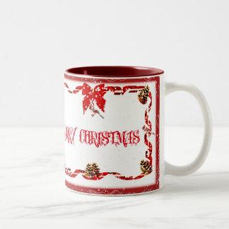 Merry Christmas Two-Tone Mug