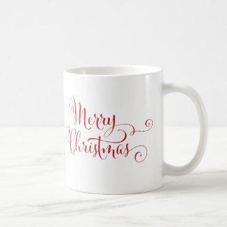 Merry Christmas Typography Coffee Mug