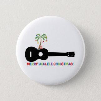 Merry Christmas Ukulele 6 Cm Round Badge