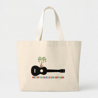 Merry Christmas Ukulele Tote Bags