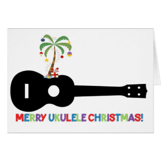 Merry Christmas Ukulele Card