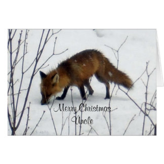 Merry Christmas Uncle-Fox Greeting Card