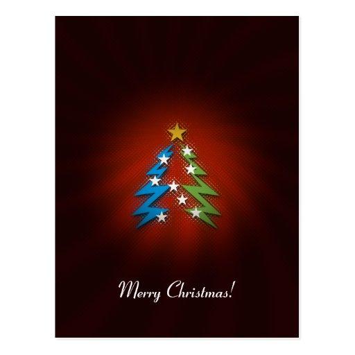 Merry Christmas! - Unique Christmas trees Postcards