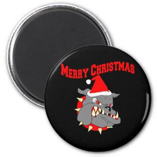Merry Christmas USMC Devil Dog 6 Cm Round Magnet
