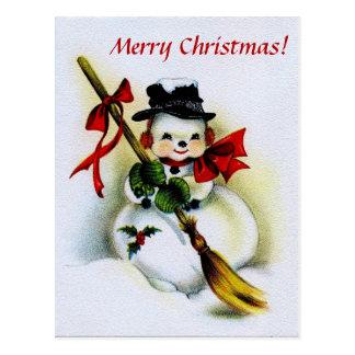 MERRY CHRISTMAS v.16 (holiday snowman) ~ Postcard