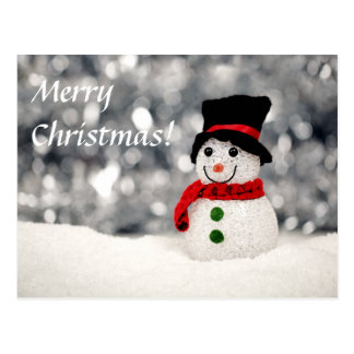 MERRY CHRISTMAS v.17 (holiday snowman) ~ Post Cards