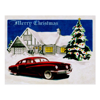 MERRY CHRISTMAS v.19 (vintage car design) ~ Postcard