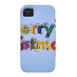 Merry Christmas Vibe iPhone 4 Case