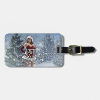Merry Christmas Vicky Luggage Tag