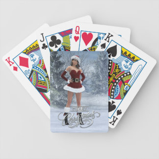 Merry Christmas Vicky Playing Cards