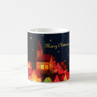 Merry Christmas Village Mug