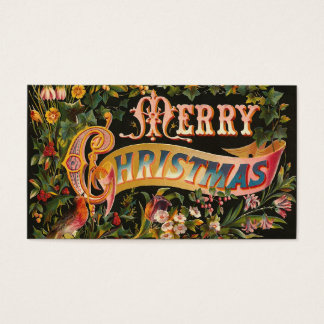 """Merry Christmas"" Vintage Business Card"