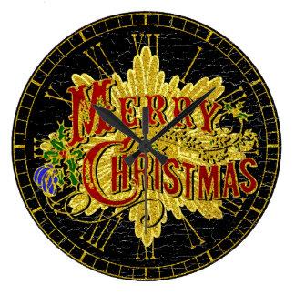 Merry Christmas Vintage Look Clock