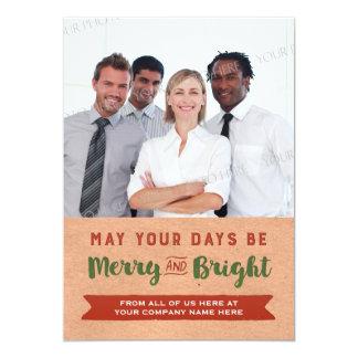 Merry Christmas Vintage Paper Photo Cards Business 13 Cm X 18 Cm Invitation Card