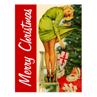 Merry Christmas Vintage Postcard