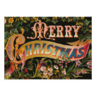 """""""Merry Christmas"""" Vintage Poster"""
