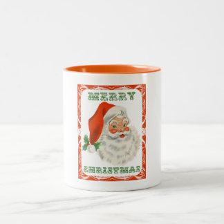 Merry Christmas Vintage Retro Santa Claus Coffee Mugs
