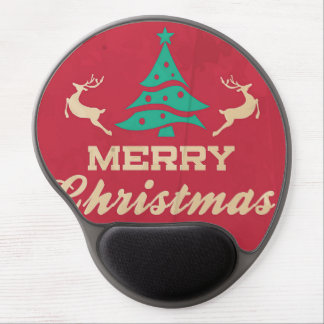 Merry Christmas Vintage Tree Gel Mouse Mat