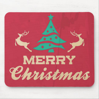 Merry Christmas Vintage Tree Mousepads