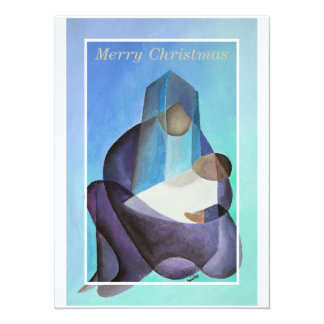 Merry Christmas Virgin Mary And Child Invitations