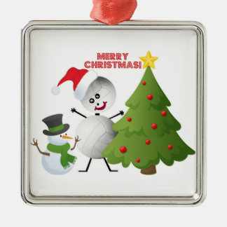 Merry Christmas Volleyball Christmas Ornament