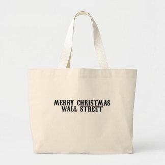Merry Christmas Wall Street Tote Bag