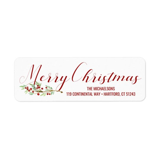 Merry Christmas | Watercolor Holiday Greens