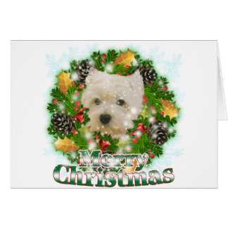 Merry Christmas Westie Card
