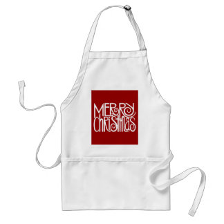 Merry Christmas White Apron