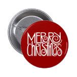 Merry Christmas White Button