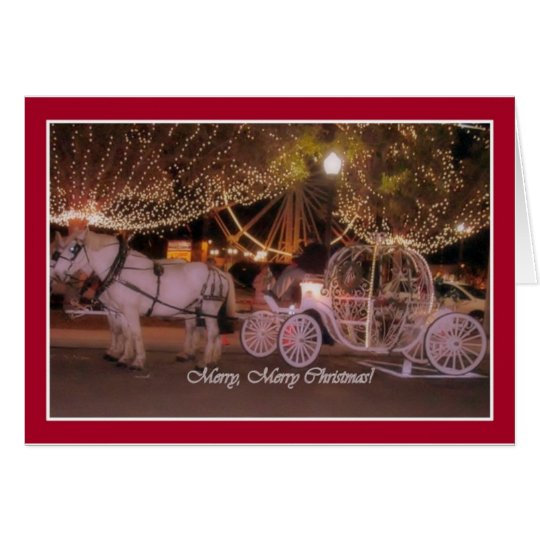 MERRY CHRISTMAS! - White Carriage & White Horses Card